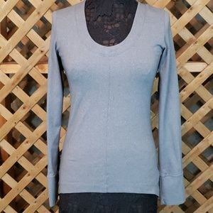 Lolë Grey Sensible Top Long Sleeve Size Small